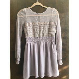 Free People Ruffle LS Dress -  Size 2